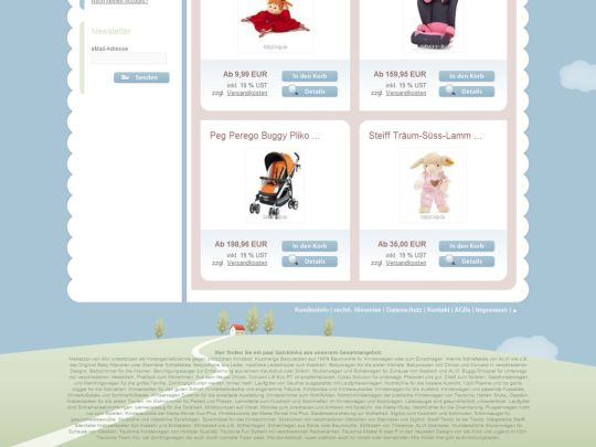 Babyshop Onlineshop: Footer