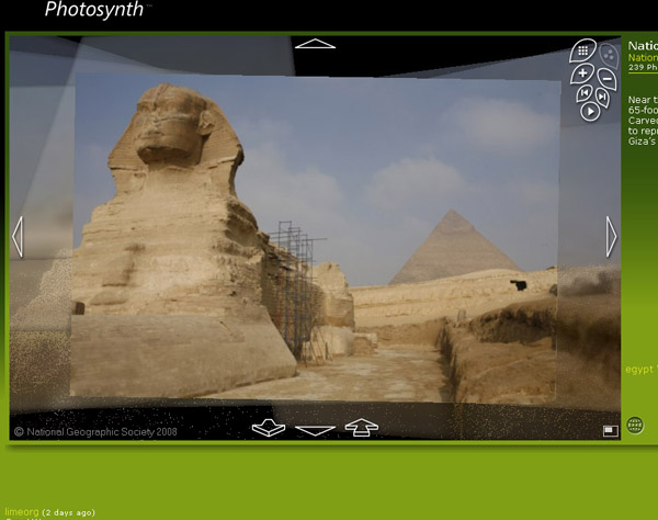 Photosynth Sphinx Beispiel
