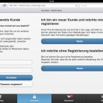 MobileST 2.0: Login - iPad optimiert